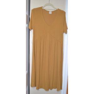 Dresses & Skirts - Yellow Relaxed Peplum / Babydoll T-shirt Dress